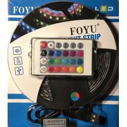 LED pásek s dálkovým ovladačem 5 m color USB napájení