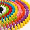 Dřevěné barevné domino 120ks
