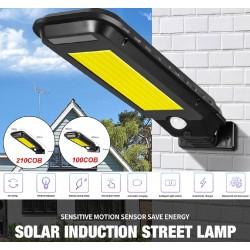 Solární venkovní lampa 210 COB T-210B