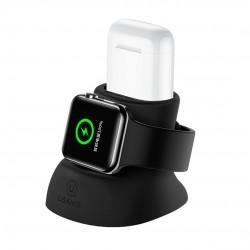 USAMS ZJ051 Nabíjecí Stojánek pro Apple Watch/Airpods Black