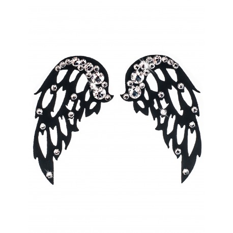 Dámské šperky na tělo Heaven Křídla Černá Krystal