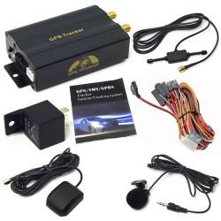 GPS GSM Lokátor do auta pro připojení na 12-24V baterii TK-103B
