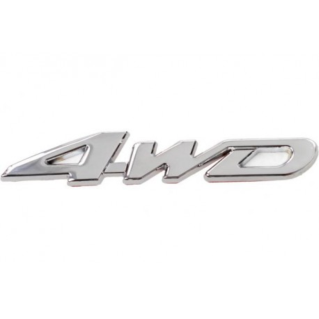 3D samolepka 4WD stříbrná