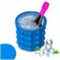 Silikonová nádoba na výrobu ledu - modrá
