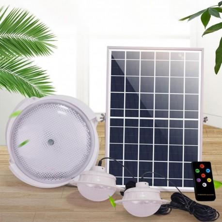 Solární osvětlení 3x světlo + solární panel JD-178