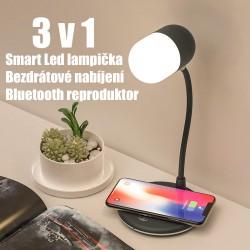 Stolní LED  Lampička L4  3v1 Bezdrátové nabíjení a reproduktor