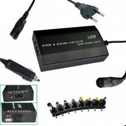 AiBINGUO univerzální napájecí adaptér 100W (od 12V) 8 koncovek i do auta