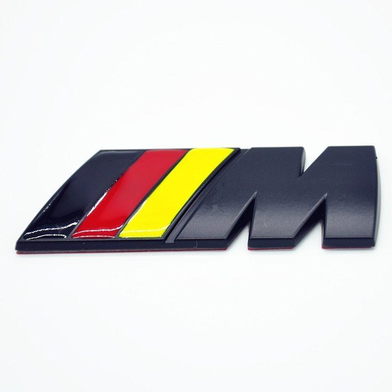 3D Znak BMW M DE Černá Matná