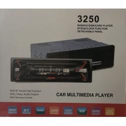Autorádio CM-3250 Bluetooth Handsfree - Odnímatelný panel
