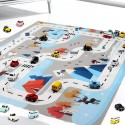 Hrací podložka autíčka - barevná