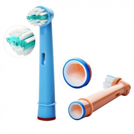 Náhradní zubní kartáčky Dětské barvy na ORAL-B EB-10M univerzální - 4 ks