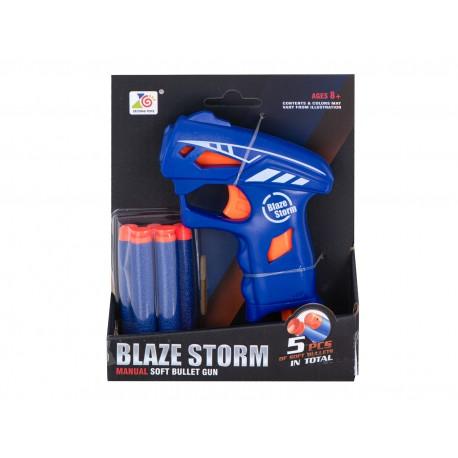 Kapesní dětská pistole BLAZE STORM + 5 šipek