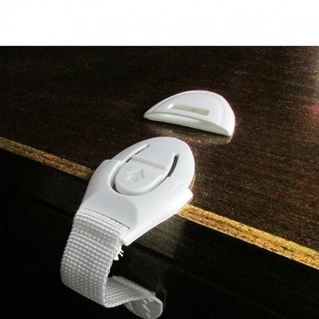 Bezpečnostní zábrana na skříně 1ks bílá / hnědá