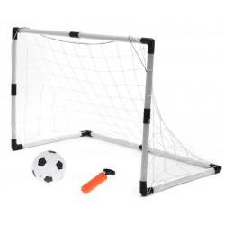 Fotbalové branky pro děti 2 v 1 (2KS-62X42X28CM / 1KS-120X80X52CM) + míč + pumpa