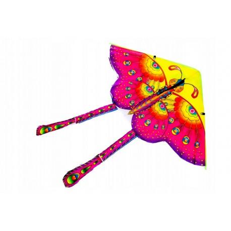 Velký létací drak Motýl 90 x 90 cm