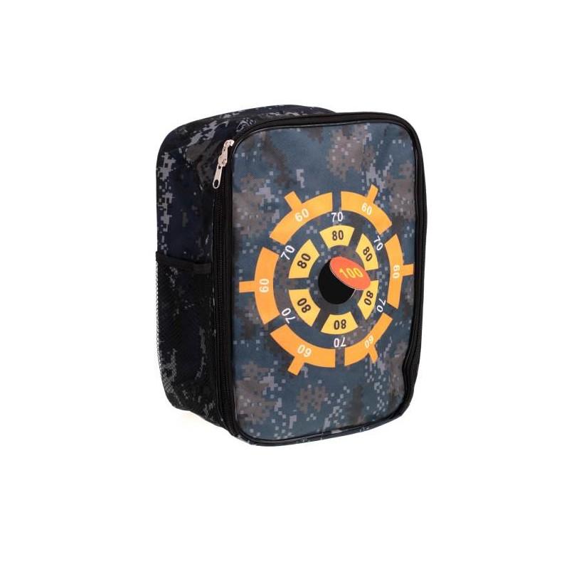 Multifunkční batoh na uložení šipek Nerf s terčem
