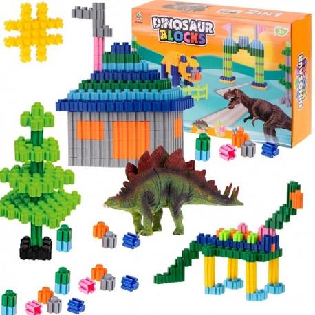 Velká sada stavebních bloků s dinosaury 290ks