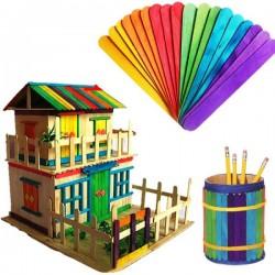 Dřívka dekorační 50 ks barevná