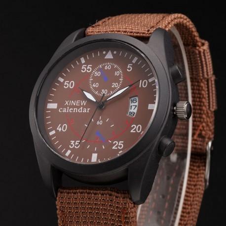 XINEW Pánské látkové sportovní hodinky s datumem