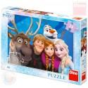 DINO Puzzle selfie Frozen (Ledové Království) 24 dílků skládačka