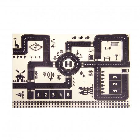 Malá hrací podložka autíčka 83X57CM