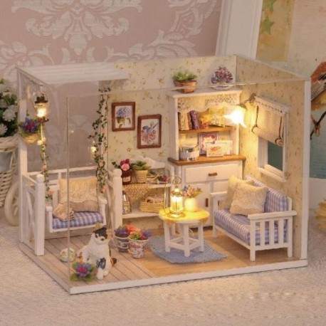 Dřevěný domeček pro panenky Retro DIY 3013