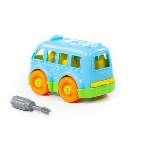 Autobus  stavebnice šroubovací jezdící 15 dílů