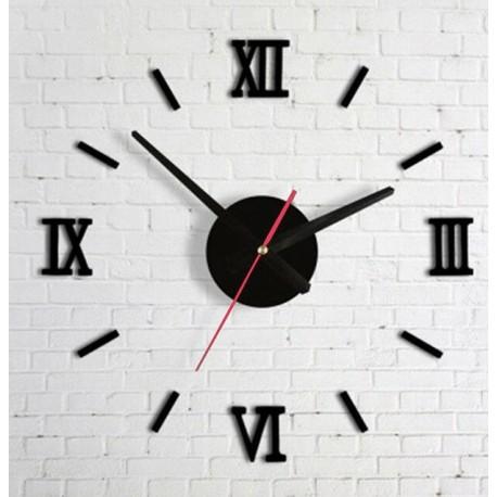 Designové 3D nalepovací hodiny 130cm Římské číslice