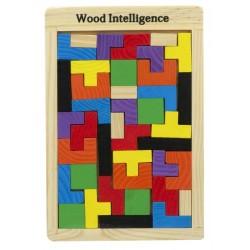 Dřevěné skládací kostky Tetris