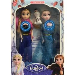 Panenka Elsa a Anna zpívající Fashion 2 28cm