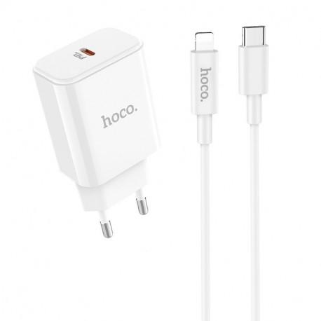 Hoco C71A nabíjecí adaptér se vstupem USB-C a kabelem lightning 18W