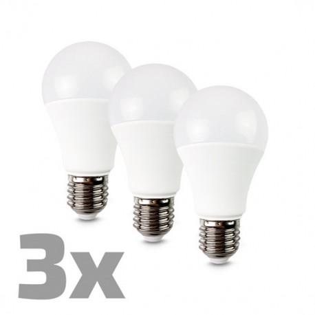 LED žárovka 3-pack, klasický tvar, 12W, E27, 3000K, 270°, 980lm, 3ks v balení