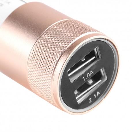 Autoadapter 2xUSB + kabel micro USB