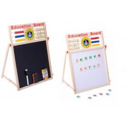 Multifunkční oboustranná tabule pro děti 63,5 x 47cm