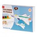 Papírové 3D puzzle s barvičkami Letadlo 28 dílů