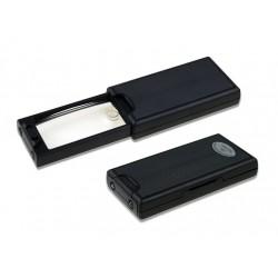 Kapesní vytahovací lupa 2,5x, 45x s LED a UV