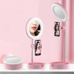Zrcátko se stolní lampaou a selfie držákem G3
