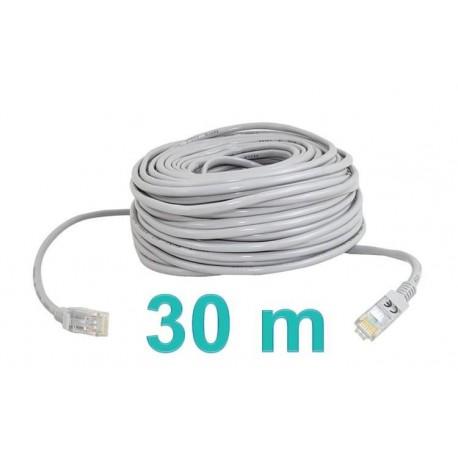 Síťový kabel RJ45-RJ45, 30m šedá