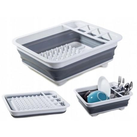 Skládací odkapávač na nádobí silikonový