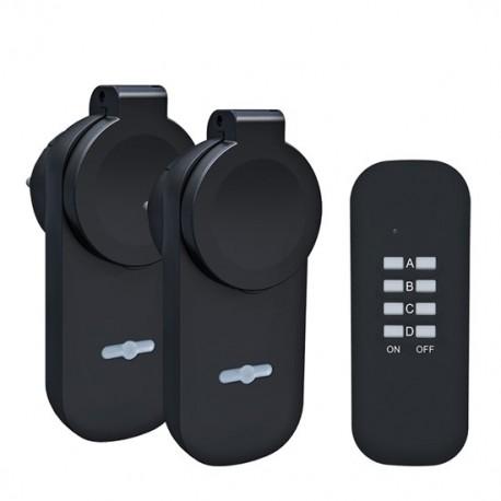 Solight dálkově ovládané venkovní zásuvky set 2 + 1 DY12, 2 zásuvky, 1 ovladač, learning code