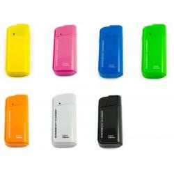 USB nabíječka na AA baterie pro mobilní telefony, MP3 MP4 přehrávače