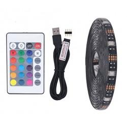 USB LED pásek s dálkovým ovladačem 5 m color