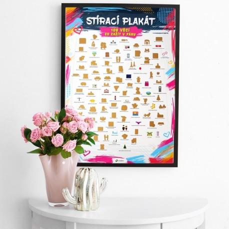 Stírací plakát - 100 věcí co zažít v páru