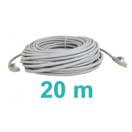 Síťový kabel RJ45-RJ45, 20m šedý
