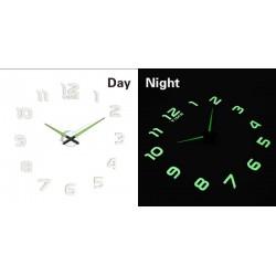 Designové 3D nalepovací hodiny fluorescentní 50-60cm