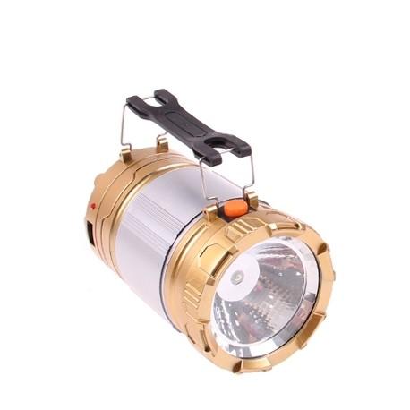 Kempingová výsuvná solární lampa 2 v 1 + baterka KT-611