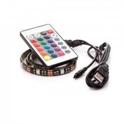 USB led pásek Barevný 1m s dálkovým ovladačem