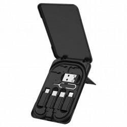 Kabel 3v1 (USB Type C + Lightning + Micro USB) 3A 60W 0.28m KAKU (KSC-325)
