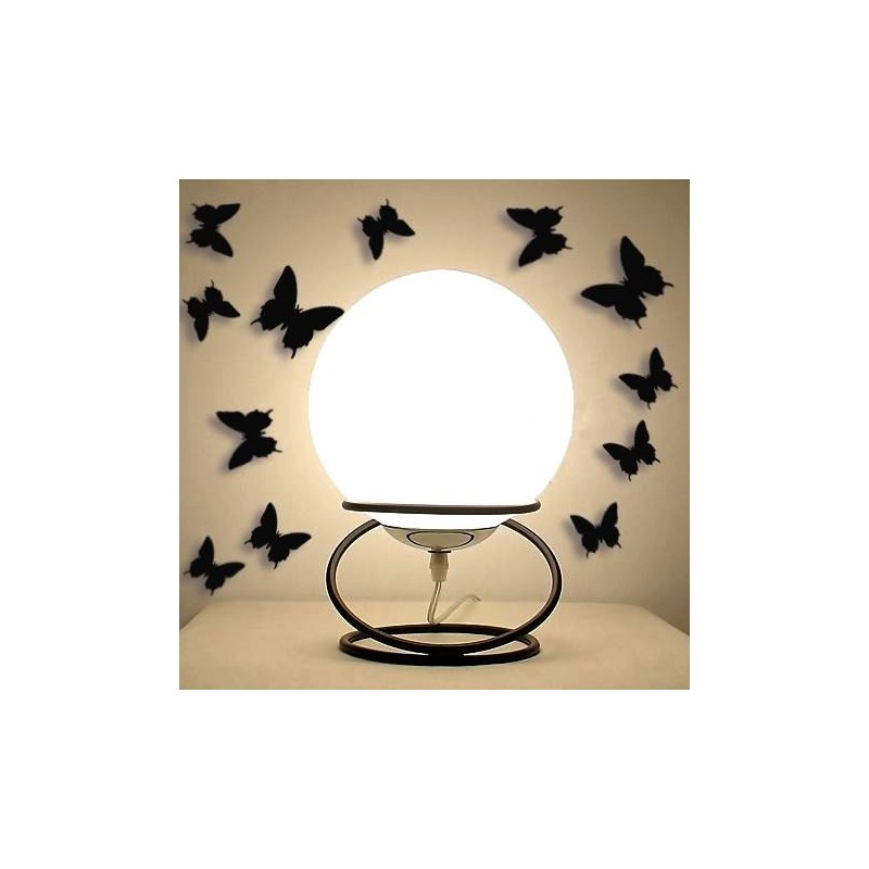 3D motýlci na zeď Černá