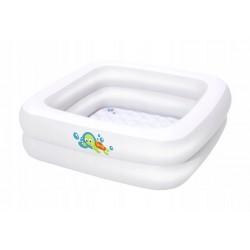 BESTWAY 51116 Dětský čtvercový bazén - bílý 86x86x25cm